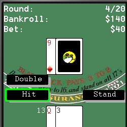 Wapfrog blackjack screen capture