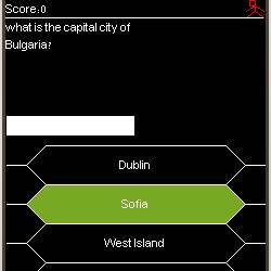 Capitals trivia screen capture