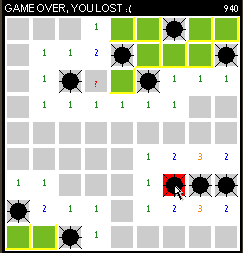 Minesweeper - Click for fullscreen