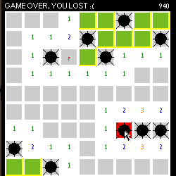 Wapfrog Minesweeper screen capture